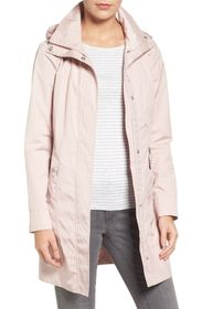 Cole Haan Signature Back Bow Packable Hooded Rainc