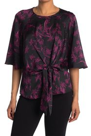 Vince Camuto Iris Bell Sleeve Keyhole Tie Blouse