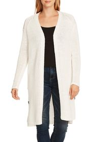 Vince Camuto Side Button Long Cotton Blend Cardiga