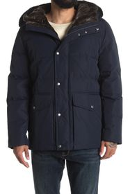 COLE HAAN SIGNATURE Faux Fur Trimmed Hooded Down P