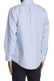 Brooks Brothers Stripe Print Long Sleeve Regent Fi
