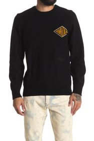 OVADIA AND SONS Monogram Crew Neck Pullover Sweate