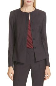 BOSS Jadela Mini Houndstooth Wool Suit Jacket