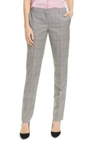 BOSS Titana Houndstooth Check Wool Trousers