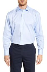 David Donahue Floral Regular Fit Dress Shirt
