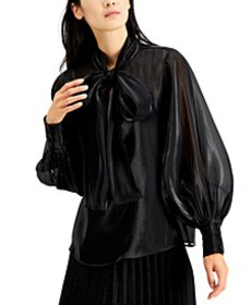 Organza Bow Blouse, Created for Macy's