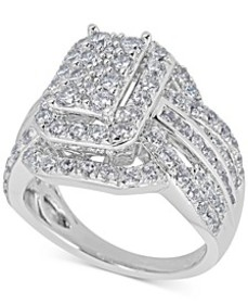 Diamond Step Engagement Ring (2 ct. t.w.) in 14k W