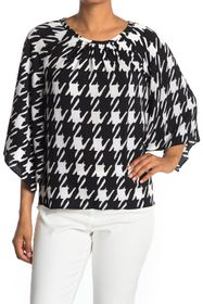 Vince Camuto Oversized Houndstooth Blouse