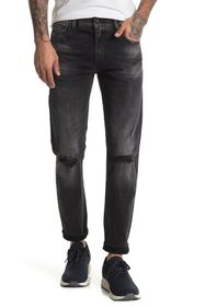 7 For All Mankind Paxtyn Distressed Skinny Jeans