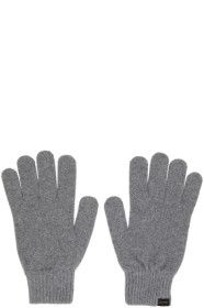 Paul Smith - Grey Cashmere Gloves