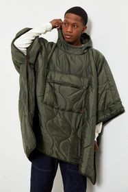 BDG Convertible Packable Poncho Jacket