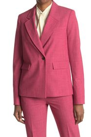 JASON WU Solid Crosshatch One Button Notch Lapel S