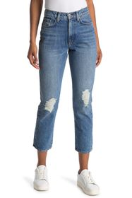 BALDWIN Therese Distressed Straight Leg Jeans