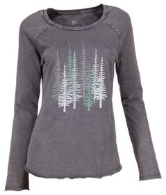 Natural Reflections Tree Acid Wash Long-Sleeve T-S
