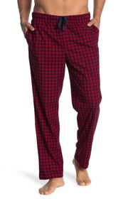 Ben Sherman Plaid Print Fleece Pajama Pants