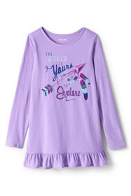 Lands End Girls Long Sleeve Graphic Tunic Top