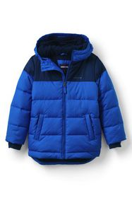 Lands End Boys ThermoPlume Fleece Lined Parka