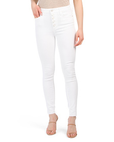 The Stiletto Ankle Exposed Button Jeans