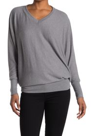 Go Couture V-Neck Dolman Sleeve Top