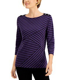 Abstract-Stripe Top, Created for Macy's