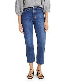 Levi's - Wedgie Straight Cropped Jeans in Market S