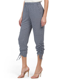 Garden Geo Ruched Ankle Pants