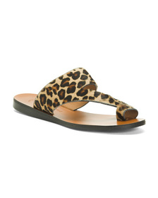 Asymmetric Leather Sandals With Toe Ring