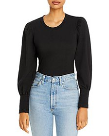A.L.C. - Karter Cotton Balloon Sleeve Top