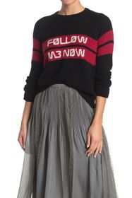 RED Valentino Follow Me Now Jacquard Wool Sweater