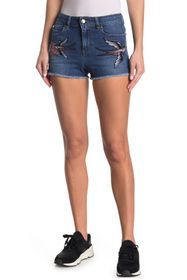 RED Valentino Swallow Patch Denim Shorts