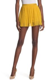 RED Valentino Pleated Woven Mini Skirt