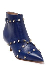 RED Valentino Studded Pointed Toe Leather Bootie