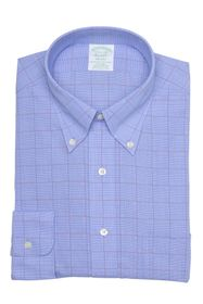 Brooks Brothers Milano Fit Glen Plaid Dress Shirt