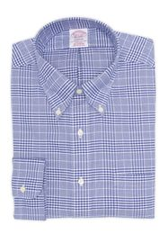 Brooks Brothers Madison Oxford Plaid Dress Shirt