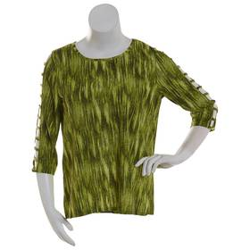 Plus Size NY Collection 3/4 Cage Sleeve Knit Jacqu