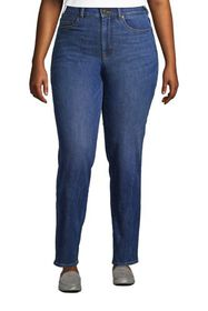 Lands End Women's Plus Size High Rise Straight Fit