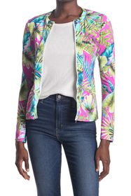 Tommy Bahama Sun-Kissed Floral Printed Zip Front R
