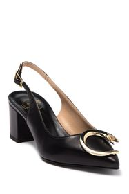 Roberto Cavalli Pointed Toe Snake Accented Slingba