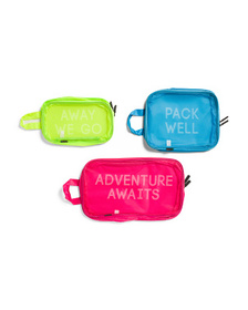 3pc Neon Adventure Awaits Pack Well Packing Cubes