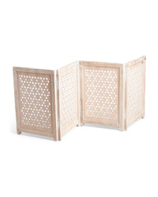 69x25 Carved Wooden Pet Gate