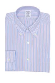 Brooks Brothers Stripe Print Non-Iron Regent Fit D