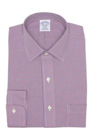 Brooks Brothers Check Print Regent Fit Dress Shirt