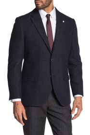 Nautica Wool Blend Windowpane Sport Coat