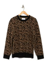 OVADIA AND SONS Leopard Print Jacquard Sweater