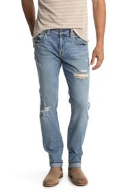 True Religion Rocco No Flap Straight Leg Jeans