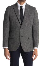 Nautica Notch Lapel Herringbone Model Sport Coat
