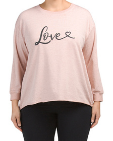 Plus Love Heart Pullover Top