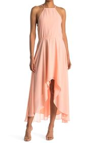 HALSTON High Neck Dress