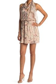 HALSTON Ginny Halter Mini Dress