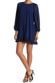 HALSTON Blouson Sleeve Dress
